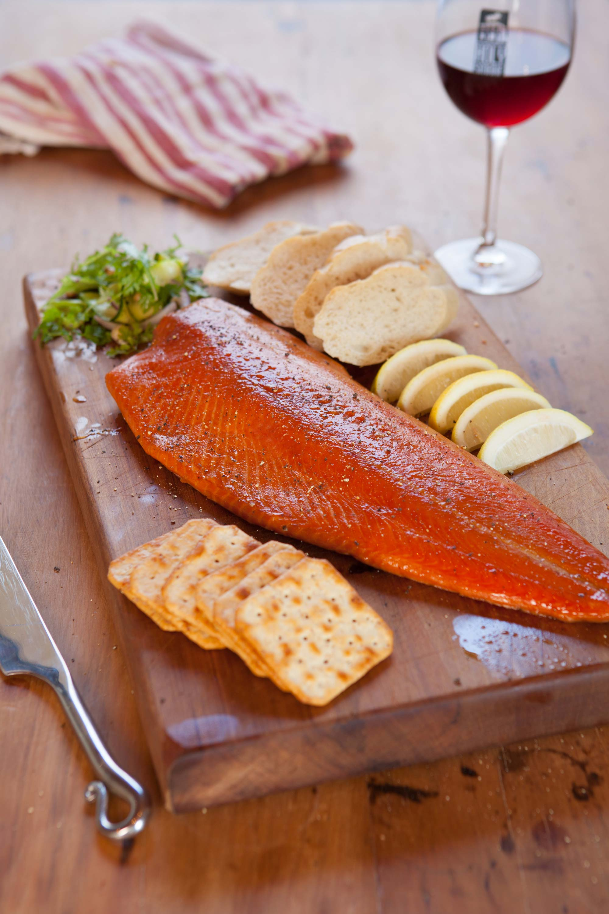 Smoked Salmon Side with Crackers